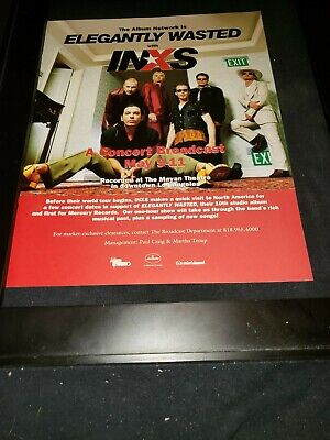 INXS Beautiful Girl Rare Original Radio Promo Poster Ad Framed! • 40.91£