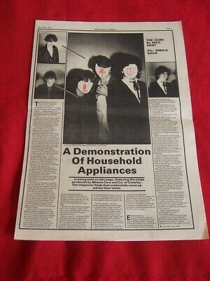 The Cure May 1979 Original Vintage Article Interview Clipping • 11.99£