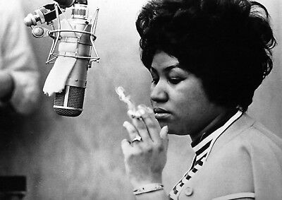 Reproduction Aretha Franklin Poster,  Smoking , Home Wall Art, Vintage Print • 13.50£