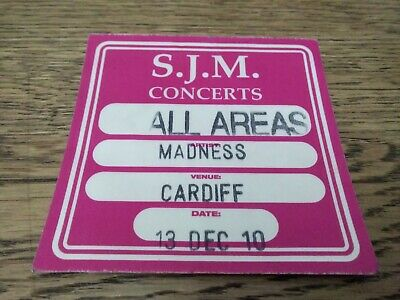Madness Access All Areas Cardiff Backstage Pass 2010 Cardiff • 2.20£