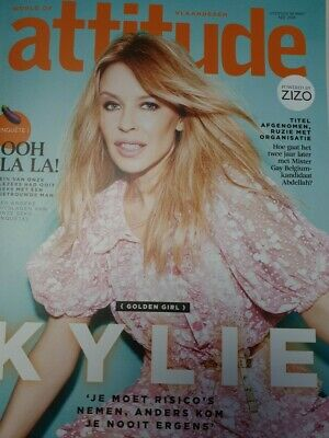 BELGIAN Version Of Attitude Magazine With Kylie Minogue Cover Photos Interview • 5.99£