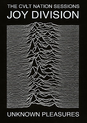 Reproduction  Joy Division  Poster, Unknown Pleasures, Ian Curtis, Manchester • 13.50£
