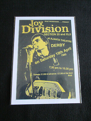 Joy Division   : Derby  1980  : A4 Glossy Repo Poster  • 3.99£