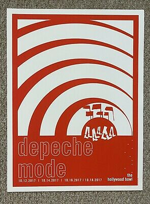 Depeche Mode Hollywood Ca 2018 Original Silkscreen Concert Poster Numbered • 92.60£