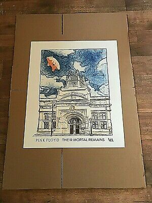 PINK FLOYD THEIR MORTAL REMAINS V&A London 2017 Official Print FLYING PIG New • 21£