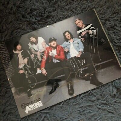 Asking Alexandria Signed Poster • 0.99£