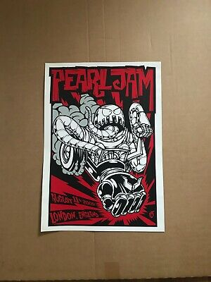 Pearl Jam Official Concert Tour Poster August 11, 2009 LONDON • 40£