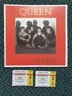 Queen 1984 WORKS Tour Programme And Ticket 80s Music Memorabilia • 90£