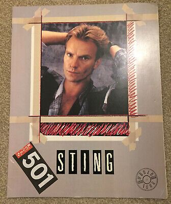 Sting UK Tour Programme 1985 Dream Of The Blue Turtles *Police* EX • 4.99£