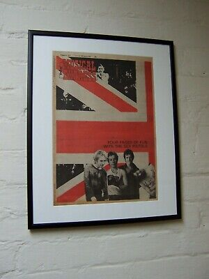 The Sex Pistols 1977 Original Vintage Poster Advert Framed Iconic Nme Cover  • 144.99£