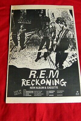 R.e.m Original 1984 Vintage Music Press Poster Advert The Reckoning Album + Tour • 14.99£