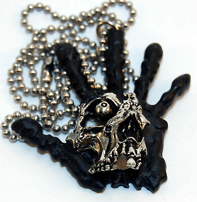 Vintage PUSHEAD Hand Of Fear Pendant - NEW Necklace - Old Stock -Metallica- 1990 • 393.39£