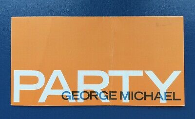 RARE & ORIGINAL - GEORGE MICHAEL PARTY INVITE - 15th JUNE 1988 • 32£