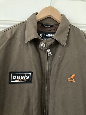 OASIS Kangol Tour Jacket 1997 Rare! Medium, Padded, Bomber Harrington Liam Noel • 275£
