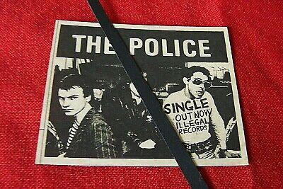 Rare The Police Original 1977 Vintage Advert Fallout Single Illegal Records • 7.99£