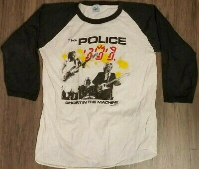 1982 The Police Ghost In The Machine Concert T Shirt • 106.57£