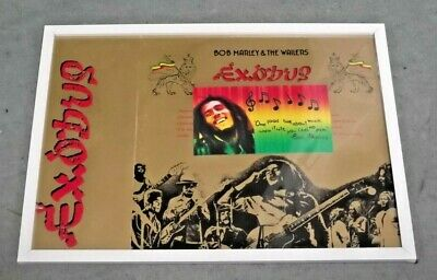 Bob Marley. Unique Framed Display Item.ready To Hang .17 X 13 Ins • 9.99£