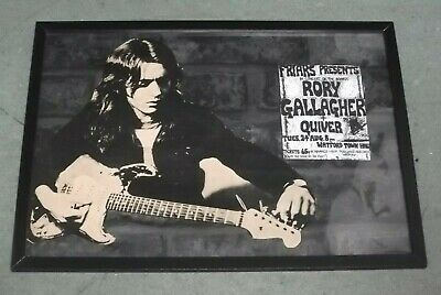 Rory Gallagher. Unique Framed Display Item.ready To Hang .17 X 13 Ins • 9.99£