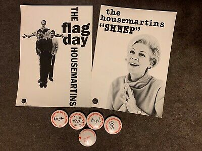 The Housemartins Button Badges & Postcards From Newcastle Mayfair Concert 1986 • 22£