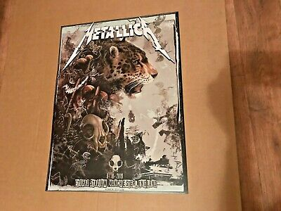 Metallica Etihad Stadium Manchester 2019 Official Concert Poster By A J Frena  • 27£