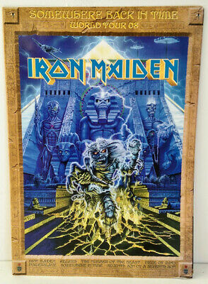 Iron Maiden Somewhere Back In Time World Tour Concert Program 2008 • 5£