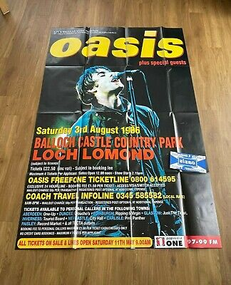 Oasis Genuine Original Loch Lomond 1996 Massive Promotional Poster & Car Sticker • 149.99£
