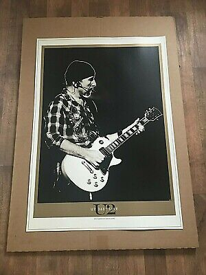 U2 Official The Edge 360 Live Litho NEW Photo 97x 69cm By Aaron Harris • 35£