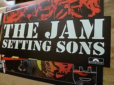 The Jam  Reproduction 'setting Sons' Stencil Banner Poster. 80 Cm X 27 Cm • 15£