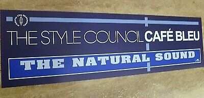 The Style Council  Reproduction 'cafe Bleu' Banner Style Poster. 80 Cm X 23 Cm • 15£