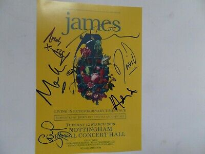 James Autographed Tour Flyer, Signed By 6. • 34.99£