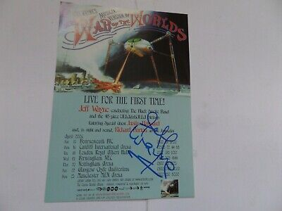 Jeff Wayne War Of The Worlds , Autographed Tour Flyer. • 29.99£