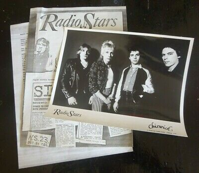 RADIO STARS NERVOUS WRECK PHOTO A4 Press Cuttings & Biography CHISWICK C.1977 • 10.73£