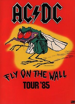 Ac/dc 1985 Fly On The Wall Tour Concert Program Book / Brian Johnson / Nmt • 85.82£