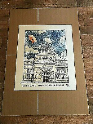 PINK FLOYD THEIR MORTAL REMAINS V&A London 2017 Official Print FLYING PIG New • 45£