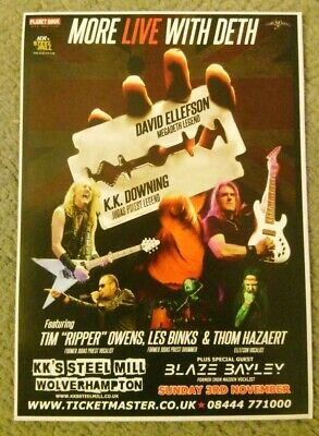 KK DOWNING David ELLEFSON LES BINKS Gig Flyer Nov 2019 Judas Priest Megadeth  • 2.99£
