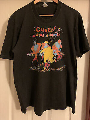 QUEEN Official 1986 A Kind Of Magic Tour + Dates Vintage T-Shirt XL ONE Owner • 90£