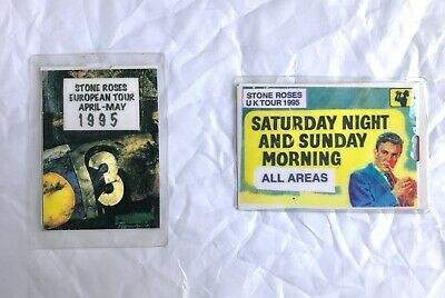 The Stone Roses 2 X AAA Backstage Pass Bundle.Ultra Rare, 2nd Coming Era. 1995 • 19.99£