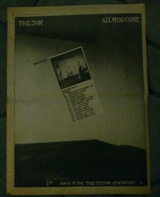 THE JAM - All Mod Cons Original Poster Sized Ad 1978 Paul Weller • 1.99£
