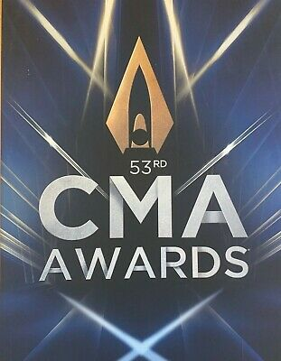53rd CMA COUNTRY MUSIC AWARDS 2019 SOUVENIR BROCHURE IN MINT CONDITION NASHVILLE • 19.99£