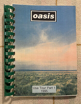 OASIS Tour Book / Itinerary USA Tour Part 1 1995 Rare! Liam Noel Creation • 200£