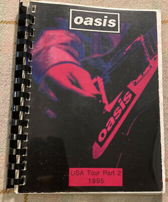 OASIS Tour Book / Itinerary USA Tour Part 2 1995 Rare! Liam Noel Creation • 200£