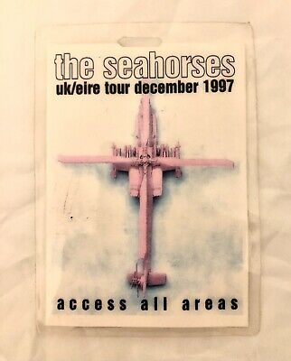THE SEAHORSES / JOHN SQUIRE Laminated AAA Backstage TOUR Pass. UK/EIRE TOUR 1997 • 30£