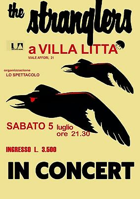Reproduction Alternate  The Stranglers - A Villa Litta  Poster, Punk, Size A2 • 18.99£