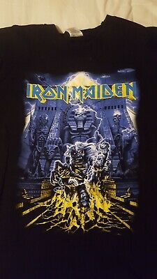 Iron Maiden Official Tour T Shirt Somewhere Back In Time Tour 08 Size L • 31£
