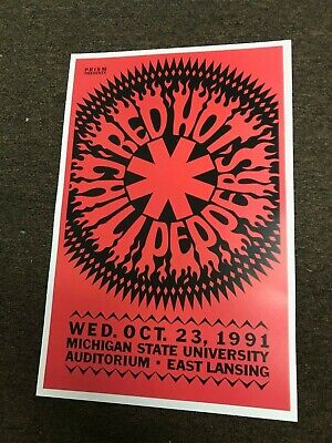 Red Hot Chili Peppers 1991 Michigan State University Cardstock Concert Poster  • 7.09£