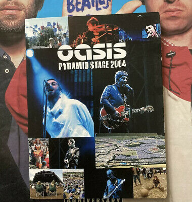 Oasis Glastonbury 2004 DVD Vinyl LP CD Promo Noel Liam Gallagher  • 20£