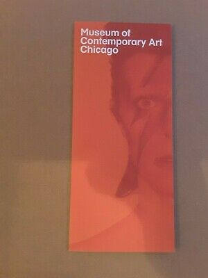 David Bowie Is Exhibition MCA Chicago V&A Fold Out Advertising Leaflet Card • 5.50£