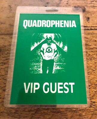 The Who Quadrophenia Laminated VIP Backstage Pass.  • 25£