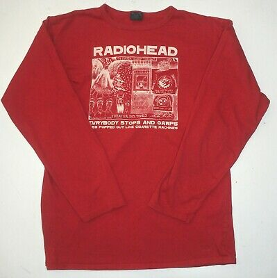 Radiohead Rare! L/s Cherry Red Shirt Stanley Donwood Art 2000 Made By Waste    • 124.13£
