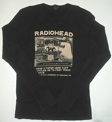 Radiohead Rare! L/s Black Shirt Stanley Donwood Art 2000 Made By Waste    • 124.13£